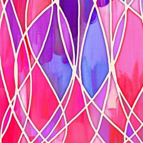 Intense version - Hot Pink & Purple Abstract Painting with texture