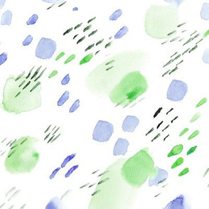 Mint and cornflower watercolor daydreams || abstract painted pattern