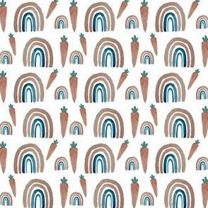 Watercolor easter carrots