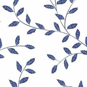 Spring Vine - Navy
