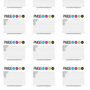 PMQG Quilt Labels
