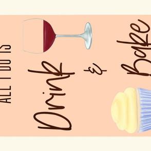 Drink & Bake Tea Towel