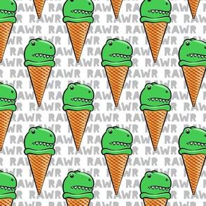 trex ice cream cones - dinosaur ice cream - RAWR - C19BS