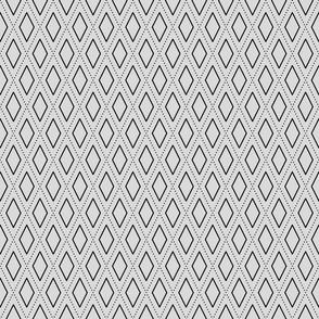 Black and White Rhombus Seamless Pattern