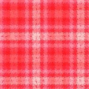 JP37 - Scarlet and Pink Tartan Plaid