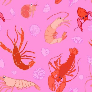 Dance of the Crustaceans in Conch Pink