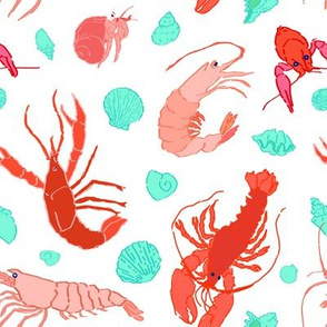 Dance of the Crustaceans in Pearl White