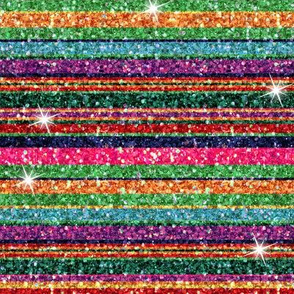 Glitter Serape stripe sparkles