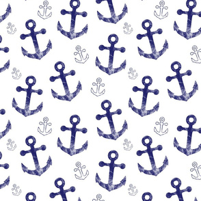 Anchors in white