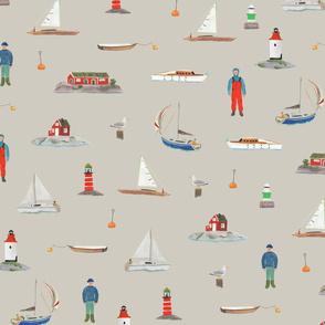 Sailing The Swedish Sea Grey