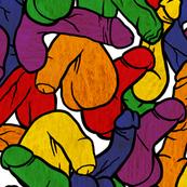 Rainbow Penis, Large