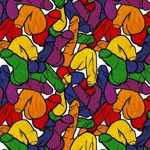 Rainbow Flag Penis, Medium