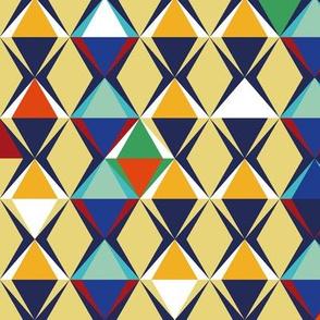 pyramids geometric pattern -  bigger