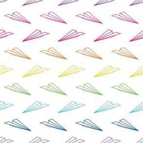 Paper Airplanes (Rainbow Outline)