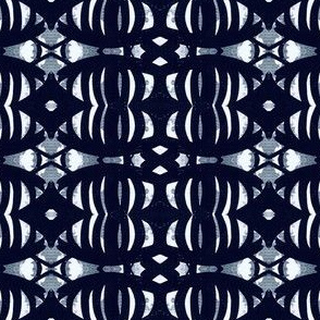 Thick Black Almond or Shell Shape Repeating Pattern