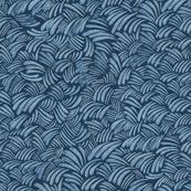 Ocean waves ink blue