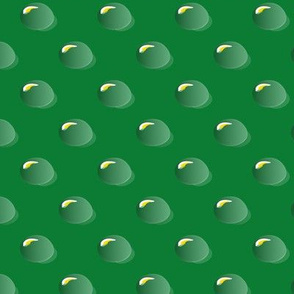 Raindrops on green
