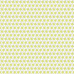 MICRO - softball fabric - yellow softball fabric, softballs fabric, girls fabric, sports fabric, sports ball, sports -  white