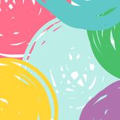 "rainbow scribble dots XL {tight 18"" dots}"