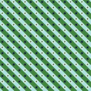 Stars & Stripes* (Dollar Bill)    geometric circles plaid diagonal polka dots patriotic red white blue July 4th Independence Day carnival circus state fair amusement park bunting aqua
