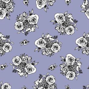 Periwinkle Flower Pattern White Flowers