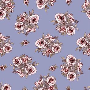 Periwinkle Flower Pattern Pink Flowers