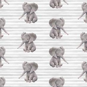 "4"" Elephant with Stripes"