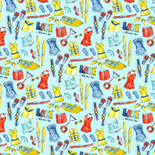 nautical lake pattern spoonflower