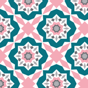 Mattonelle - Moroccan Geometric - Pink & Teal