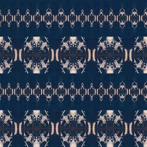 Dark Blue background with cool star pattern in cream