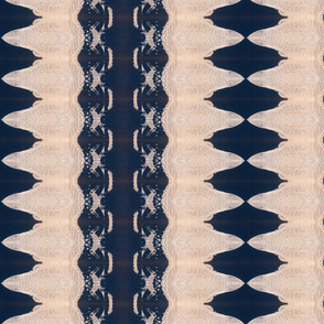 Creamy wave shapes on a dark blue background