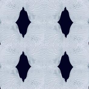 Dark diamonds on crisp white texture shapes