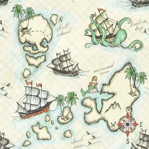 Pirate Journey to Skull Island//Nautical Challenge//Rust