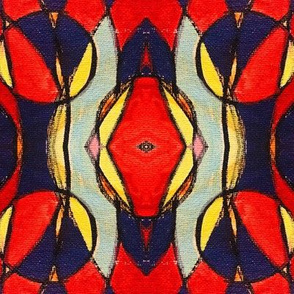 Funky Interlocking Red Shapes,