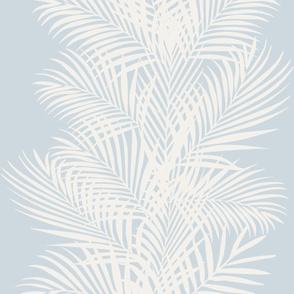 Frond Cream Stripe Ice Blue