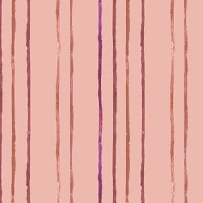 Take Flight Watercolor Stripes in Raspberry on Coral vertical