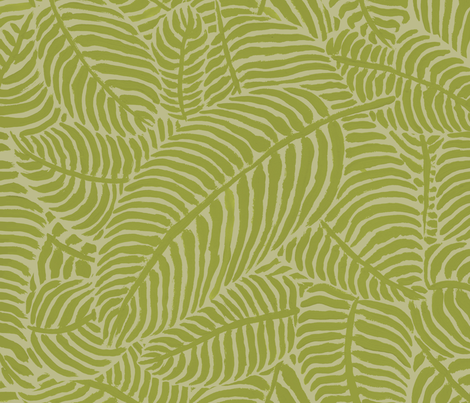 Citron Palms by The Prime Floridian fabric by theprimefloridian on Spoonflower - custom fabric