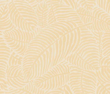 Creamy Palms by The Prime Floridian fabric by theprimefloridian on Spoonflower - custom fabric