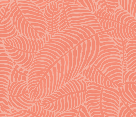 Coral Palms by The Prime Floridian fabric by theprimefloridian on Spoonflower - custom fabric