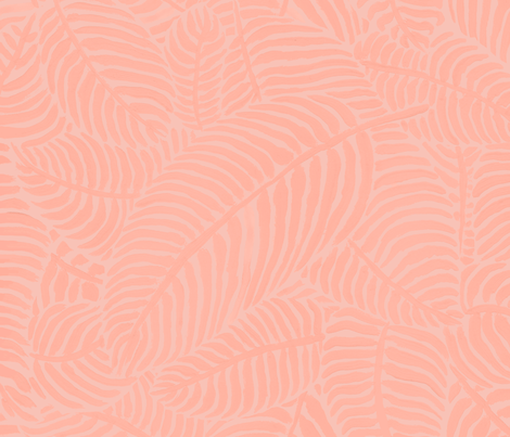 Peachy Palms by The Prime Floridian fabric by theprimefloridian on Spoonflower - custom fabric