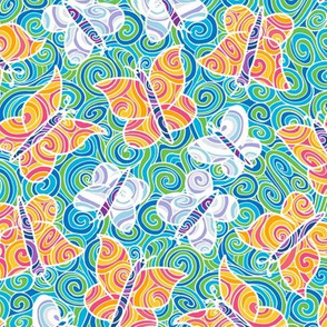psychedelically swirled butterflies