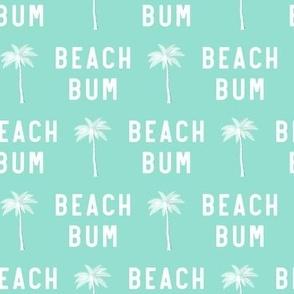 beach bum - teal - LAD19