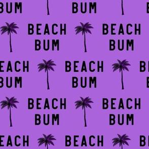 beach bum - purple - LAD19