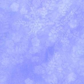 Soft Blue Maidenhair Sunprint Texture