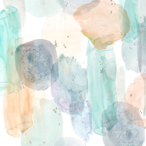 watercolor  stars abstract - earth tones