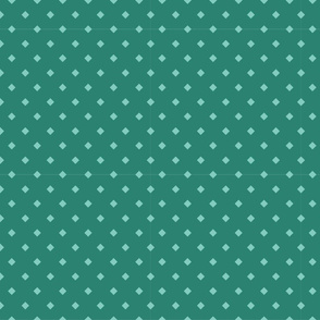 Teal diamond polkadots