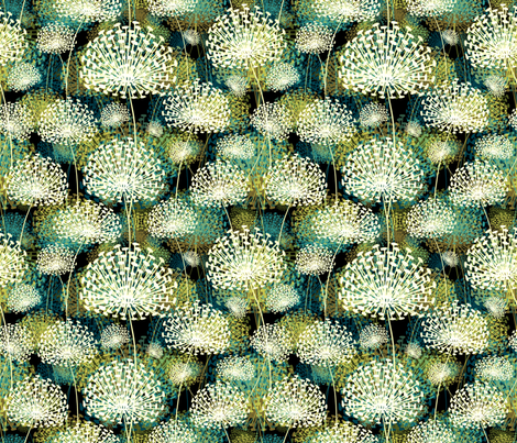 Dandelions 25 fabric by chicca_besso on Spoonflower - custom fabric