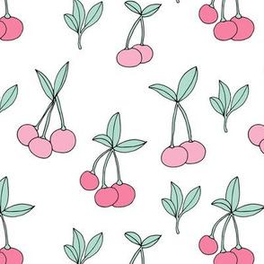 Sweet cherry garden girls summer fruit candy land white pink