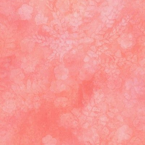 Soft Coral Maidenhair Sunprint Texture
