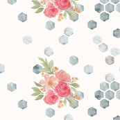 Honeycomb Floral Ivory